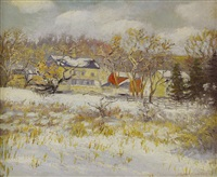 farm in the snow by elizabeth fisher washington