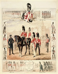 the infantry of the guard: grenadier guards, scots fusilier guards and coldstream guards (study) by henry martens
