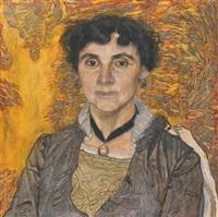 portrait of a lady by aleksandr yakovlevich golovin