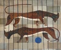 zwei raubkatzen im käfig by gyorgy lehoczky