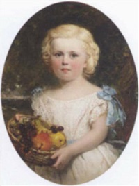 portrait of a young girl by federico quercia