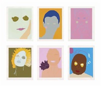 portraits (set of 10) by gary hume