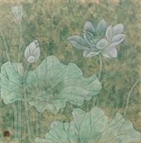 荷花 by jiang caiping