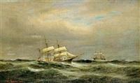 marine med hollandske skibe by heinrich leitner