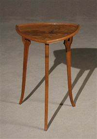 marquetry-parlante tulipwood table by émile gallé