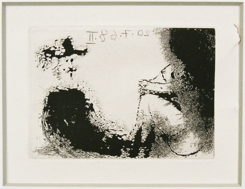 untitled (from the le celestine series) by pablo picasso