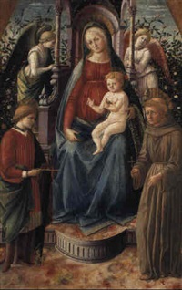 the madonna and child with sts. julian and francis by francesco pesellino