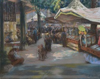 marché oriental by alexandre lunois