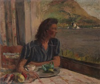 femme devant la fenêtre by abram adolphe milich