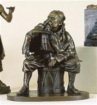 zouave assis sur un tambour by leopold-eugene kampf