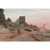 fisherman's cottage, pointe au pic by georgina m. de l' aubiniere