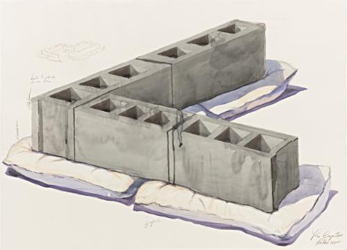 untitled (cinderblocks) by los carpinteros