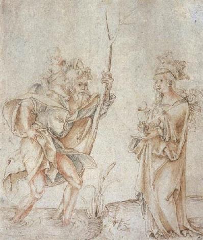 saint christophe portant lenfant jésus et sainte barbara by hans suess von kulmbach
