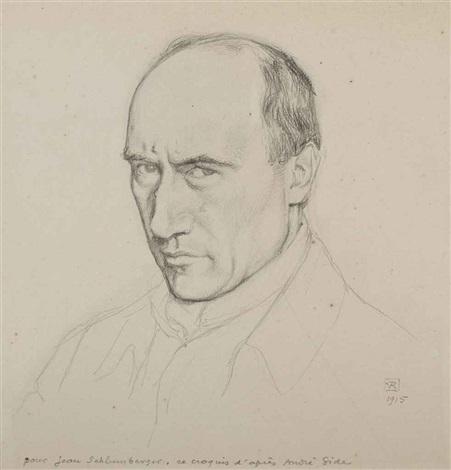 portrait dandré gide by théo van rysselberghe