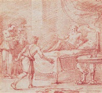 esau asking for isaac's blessing by flaminio allegrini