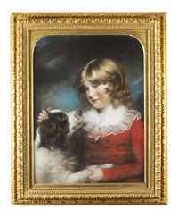 Portrait of a Young Boy with a Spaniel