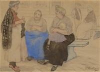 churchgoers by wilhelmus (wilm hendrikus) wouters