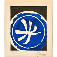 l'oiseau blanc by georges braque