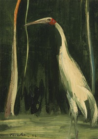 untitled (brolga) by albert lee tucker
