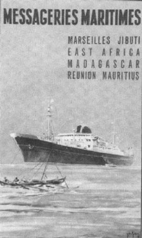 messageries maritimes marseille djibouti madagascar la réunion maurice by gachons des