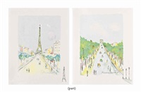 paris capitale (set of 10) by maurice utrillo