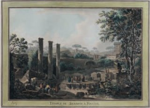 temple de sérapis à pouzzoles by louis jean desprez