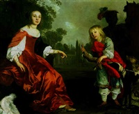 portrait of two children as hunters by abraham lambertsz jacobsz van den tempel