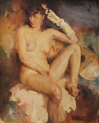 female nude by william frederick foster