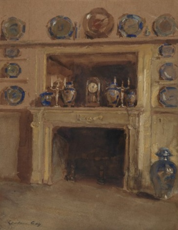 blue and white study by walter gay