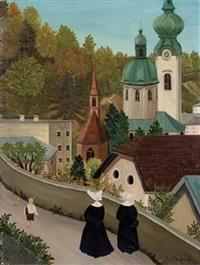 vinzentinerinnen auf dem mönchsberg mit altstadtblick by regine dapra