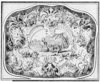 le renard et la cigogne by claude audran iii