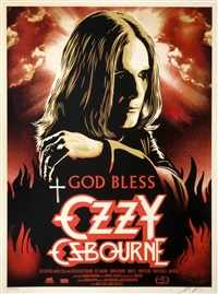god bless ozzy osbourne by shepard fairey