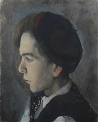 portrait of a young man by pavel tchelitchew
