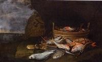 natura morta di pesci by elena recco