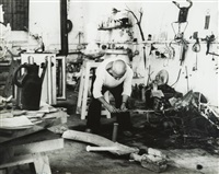 picasso dans son atelier by andré villers