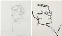 william burroughs (+ james,; 2 works) by david hockney