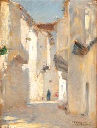 rue animée à constantine by joseph saint-germier