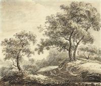 bäume an einer wegbiegung by christoph nathe