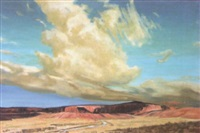 the red cliffs at gallup by howard bobbs