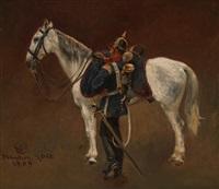 gesatteltes pferd by wilhelm emele