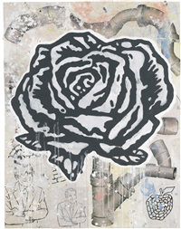 black rose by donald baechler