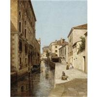 venetian canal by cesare vianello
