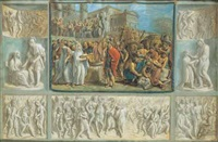 scena di storia romana (+ another; 2 works) by luigi ademollo