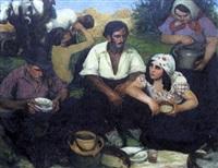 le repas des paysans by andré aillaud