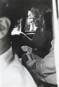 marilyn monroe dans une voiture by lee lockwood
