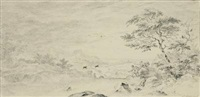 die flussüberquerung by jan (joannes) l' admiral
