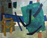 composition en vert by henri bernard goetz