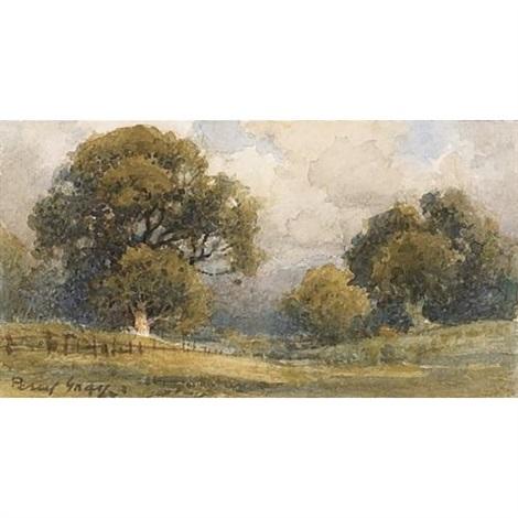 a california landscape with oaks by percy gray on artnet