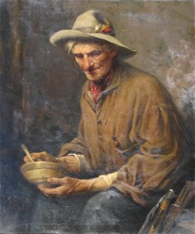 portrait of an angler by lawrence carmichael earle