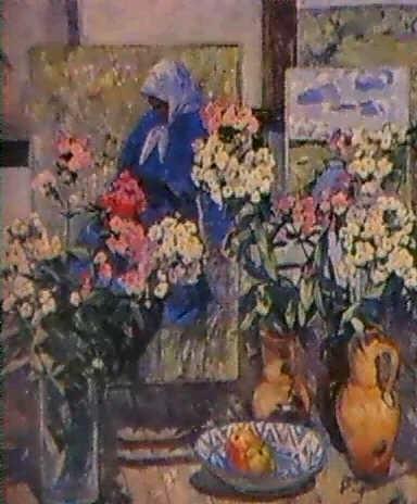 nature morte aux trois bouquets by olga ratnikova